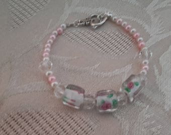 Romantic pink bracelet