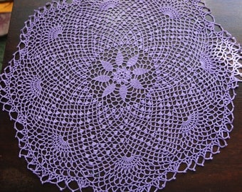Lace place -Crochet tablecloth - Crochet lace tablecloth - Gift crochet - Housewarming decor - Handmade - Crocheted doily - Purple crocheted