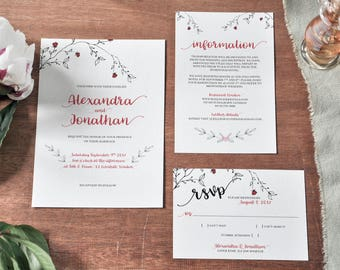 Forest Wedding, Wedding invitation, Rustic save the date, Elegant invitation, Rustic wedding, Invitation, Simple wedding,