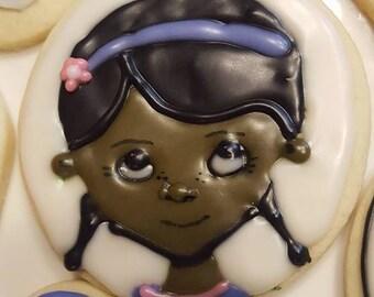 12 Doc McStuffins Inspired Cookies