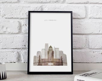 Los Angeles poster Los Angeles print Los Angeles art Los Angeles City poster Los Angeles Skyline California print LA decor Gift print