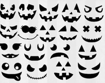 Jack O Lantern SVG Bundle, Halloween clipart, Pumpkin cut files, svg files for silhouette, files for cricut, svg, dxf, eps, cuttable design