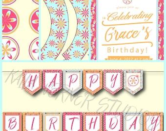 Bright Summer Birthday Party Kit