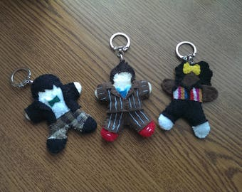 Doctor Who Felt Keychains