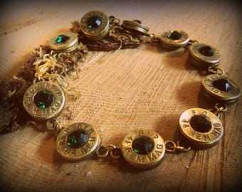 Cartridge Bracelet with Primer or Rhinestones