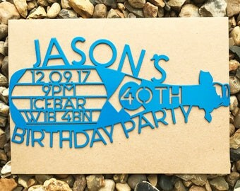 Personalised Birthday Invitation, Birthday Party Invitation, Laser Cut Invitation, Party Invitation, Birthday Invite,Personalised Invitation