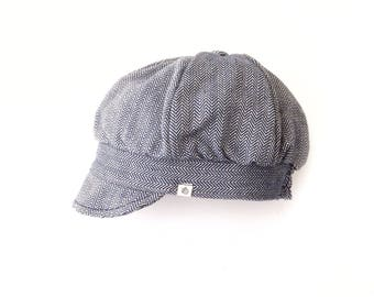 Organic kids // baker boy hat // newsboy cap // unisex hat // baby hat // wedding boy // blue hat // sustainable clothes // toddler // retro