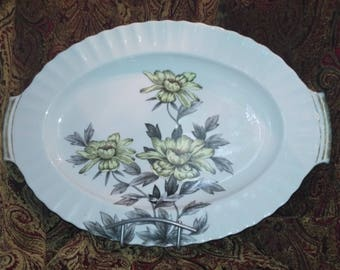 Large Platter with Flowers