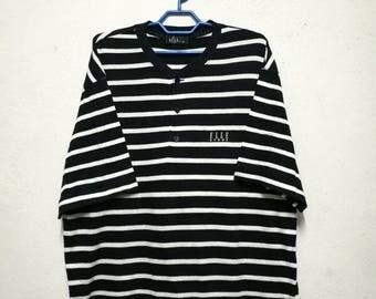 Vintage ELLE Home Paris Striped Stripe T-shirt