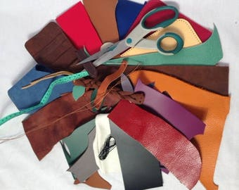leather Offcuts Chunks of Leather leather leather Trims