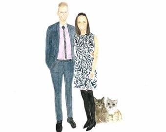 Custom Portrait illustration painting commission