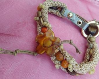Wood and Leather Bracelet   Pulsera con Madera y Cuero