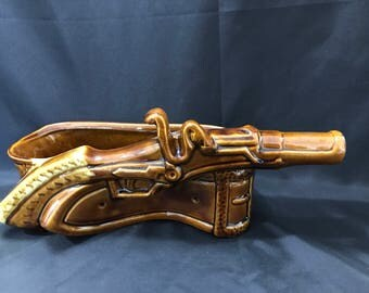 Moderamics Gun Planter Vintage 1950's U.S.A. California Pottery 2591