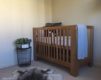 Hand Crafted Tasmanian Oak Hardwood Cot