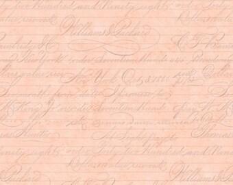 Pink Script Fabric, La Vie En Rose Collection by Santoro London
