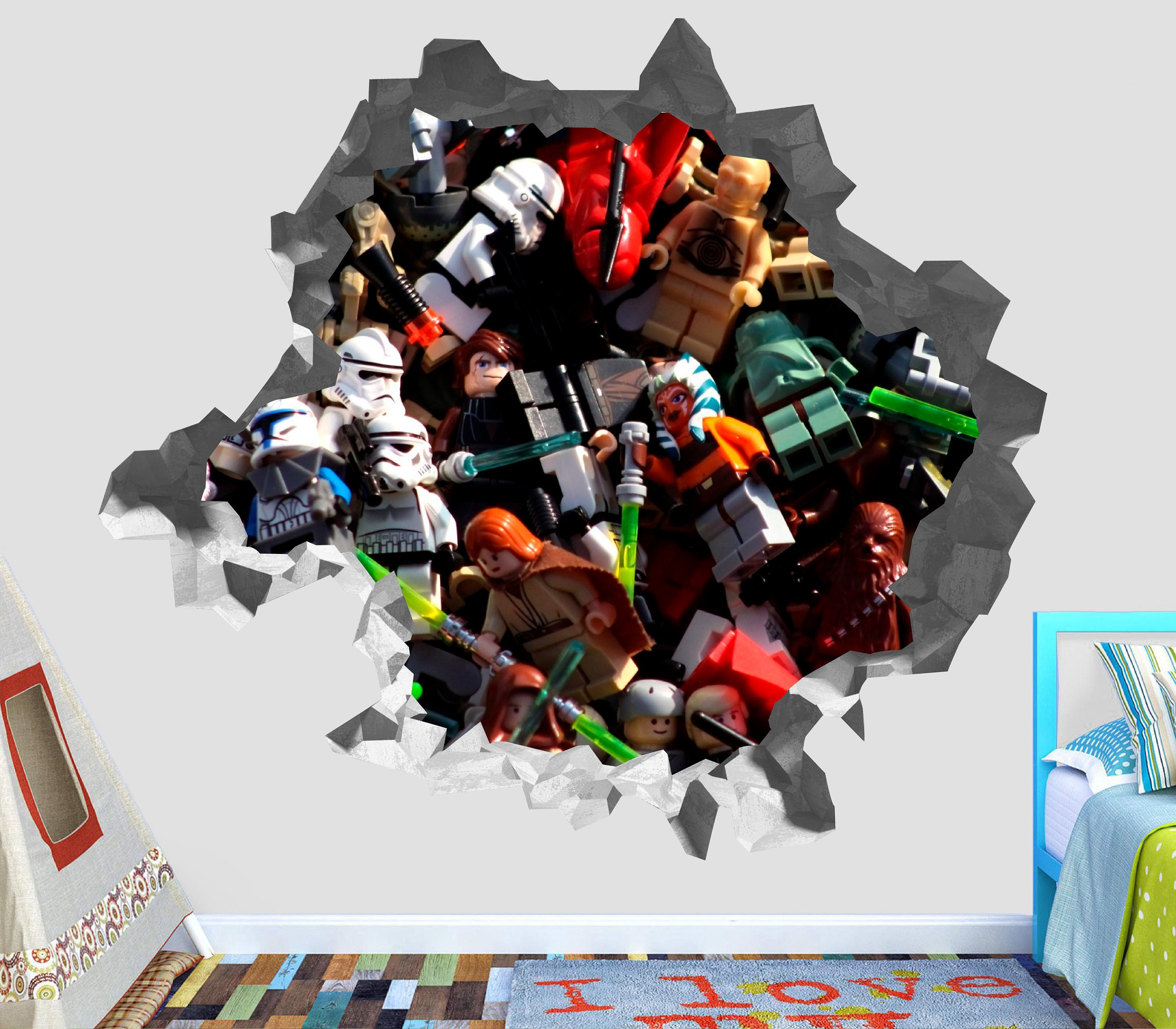 Lego Star Wars Characters Wall Decal Sticker Vinyl Decor Smashed 3D OP86  sc 1 st  Shop for The Best Deals Online Men u0026 Women online Shoes u0026 Boots Free ... & Lego Star Wars Characters Wall Decal Sticker Vinyl Decor Smashed 3D ...