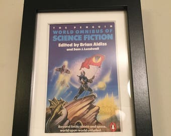 Classic Penguin Science Fiction Book cover print- framed - World Omnibus of Science Fiction