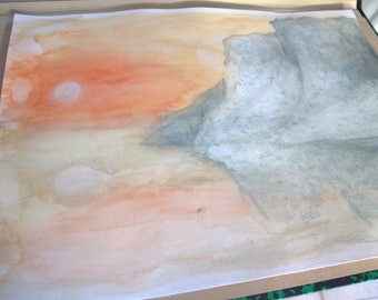 Watercolor 30x40cm - light shade