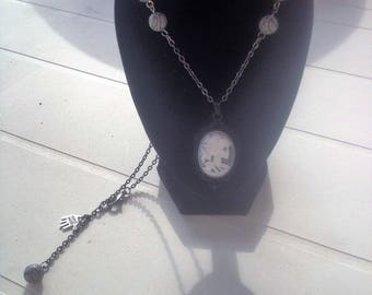 lovely black skeleton necklace