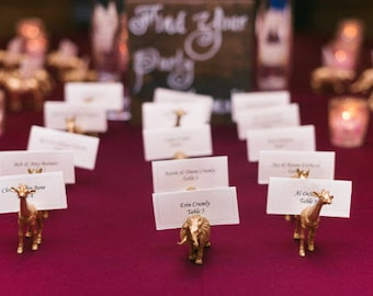 place card holders wedding table number holders pick your party animal wedding decor