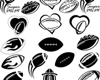 Ball for American football.Svg.Dfx.Eps.Png.