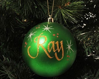 Green Shatterproof Personalised Christmas Decoration