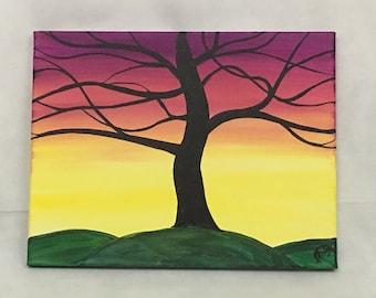 Original acrylic painting - Embrace the morning