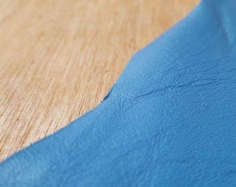 Blue Italian Leather Hide APX 2m2 1.5mm thick