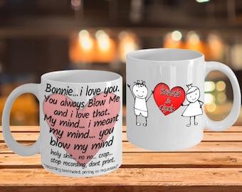 funny valentine mug - You Blow me... my mind - Valentine Mug
