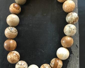 Brown Semi Precious Stone Bracelet