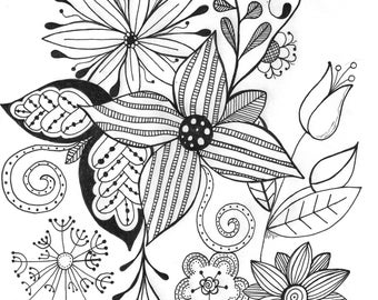 Flower doodles by Cristen