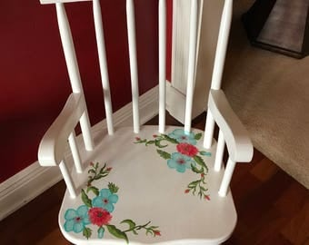 Personalized little girl's rocker
