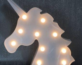 Unicorn LED Light - Unicorn Light - LED Unicorn Wall Light - LED - Unicorn - Free Standing Light - Night Light - Home Decor Gift