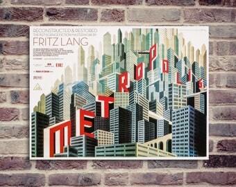 Metropolis poster. movie poster. Metropolis Fritz Lang.