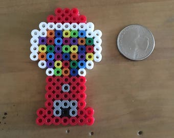Mini Bubble Gum Machine Perler Design