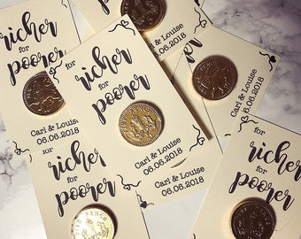 Chocolate Coin Personalised Wedding Favours