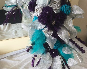 Silver leaf bouquet set