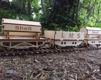 Wooden Steam Train Goods wagons Rolling Stock