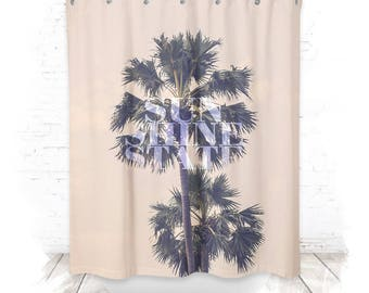 Shower curtain / shower curtain 150cm sunshine