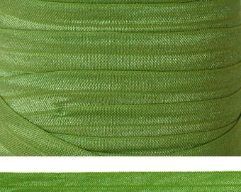 APPLE GREEN Fold Over Elastic - FOE - 5 Yards - Solid Fold Over Elastic - 5/8 Elastic - Green Ribbon - Green Elastic