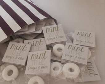 Mint to be. Wedding favours. Single mint. Polo.