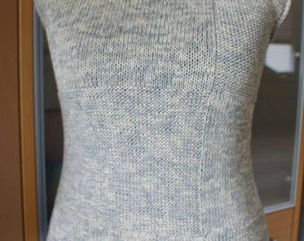 Women sleeveless sweater, 100% cotton