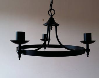 Lighting handmade wrought iron British made pendent lights