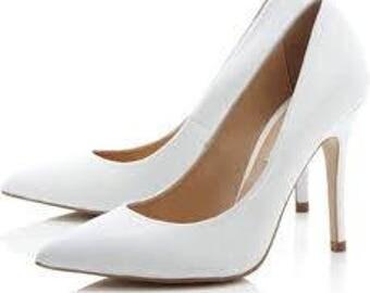 Pied A Terre White Heels Size 7 (AUS)