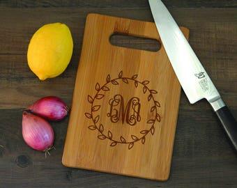 Cutting Boards, Custom Monogram Cutting Board, Personalized Wood Cutting Board, Housewarming, Cutting Board Wedding Gift CB001