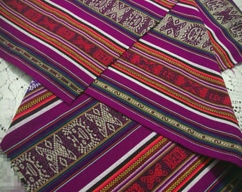 Andean Cusco - Peru fabric. Fabric striped with Inca designs. (Width of fabric 1 metre with 20cm)
