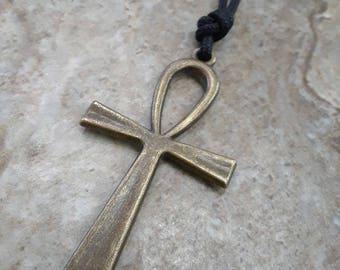 Brass Ankh Necklace