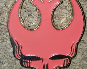 Red Rebel Allience Stealie Grateful Dead Hat Pin
