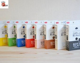Daiso Soft Clay, ( Brown / Red / Blue / Yellow / Black / White / Green ) for Cheap butter slime, DIY
