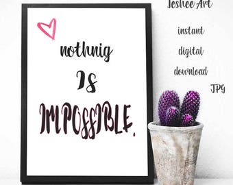 Motivation quote printable art, Home decor, Wall decor, Digital print quote, Motivational quotes
